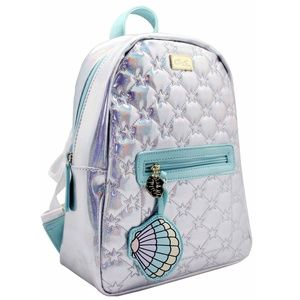 Betsey Johnson Mermaid Backpack Seafoam Teal Silve